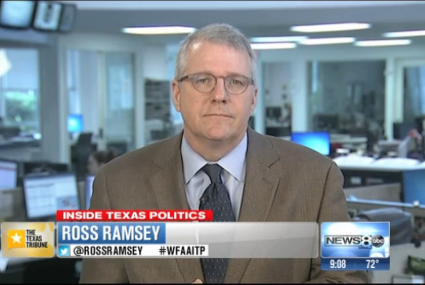 "Texas Tribune Executive Editor Ross Ramsey on WFAA-TV's ""Inside Texas Politics"" on June 22, 2014."