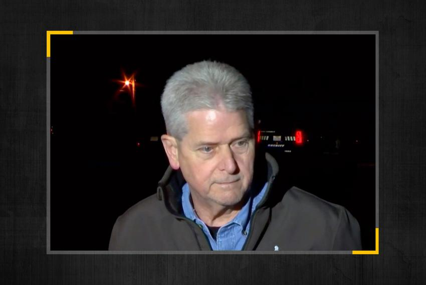 Hunt County Chief Deputy Buddy Oxford speaks at a press conference in Greenville early Sunday morning.