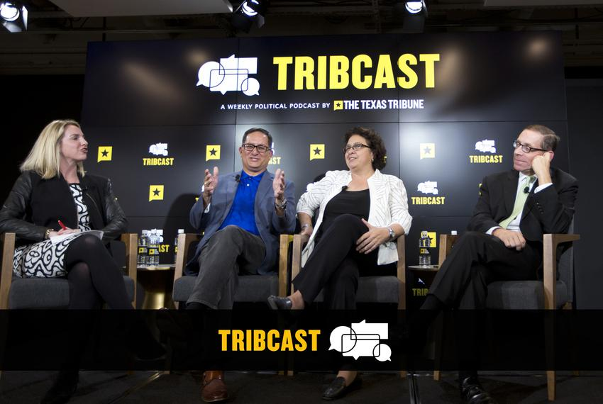For our post-midterm election TribCast, host and Editor-in-Chief Emily Ramshaw was joined by (left to right) state Reps. Lar…