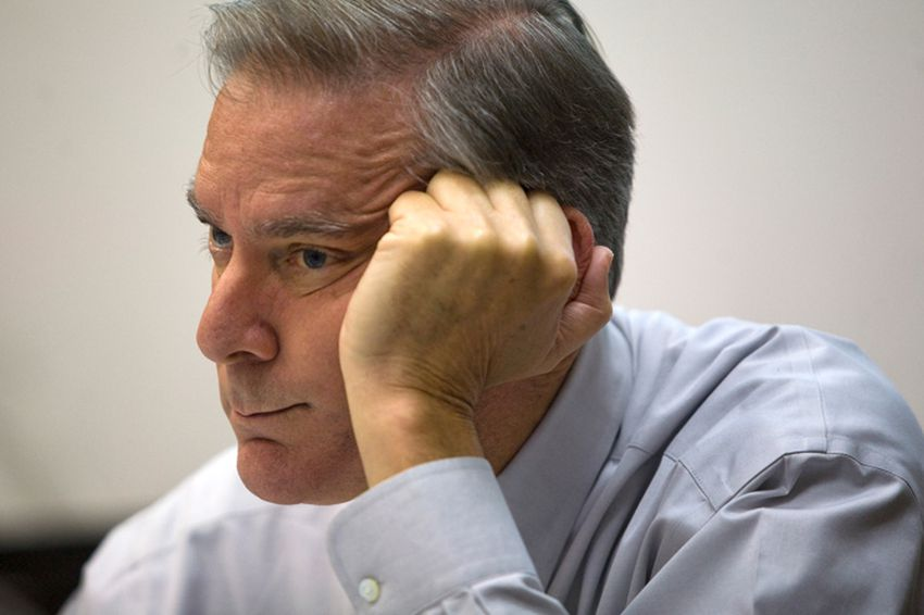 Texas Forensic Science Commission Chairman John Bradley listens to other board members during a scheduled meeting on Sept. 17, 2010, in Dallas.