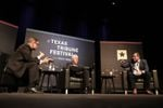 U.S. Sens. John Cornyn (center) and Ted Cruz (right) join Tribune CEO Evan Smith for the closing day of The Texas Tribune Festival on Sept. 24, 2017.