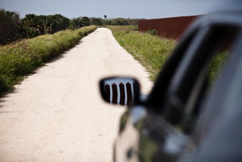 Customs and Border Patrol agents constantly patrol wide gravel roads along the border fence. The traffic — which has increas…