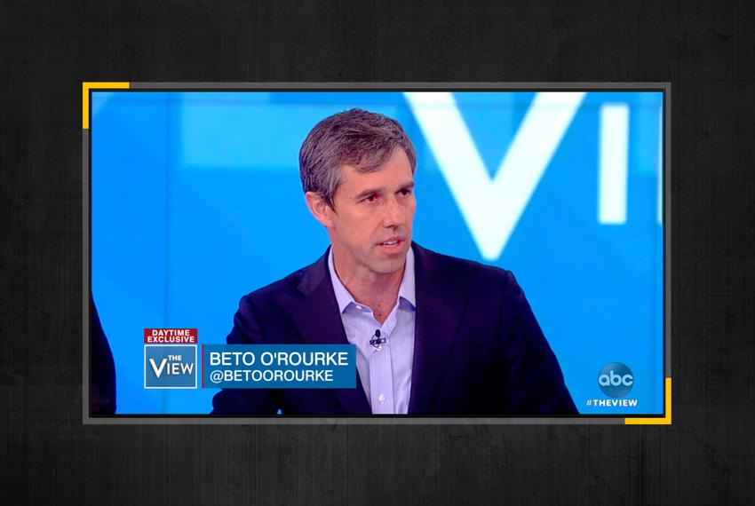 Democratic presidential candidate Beto O'Rourke on The View on May 14, 2019.