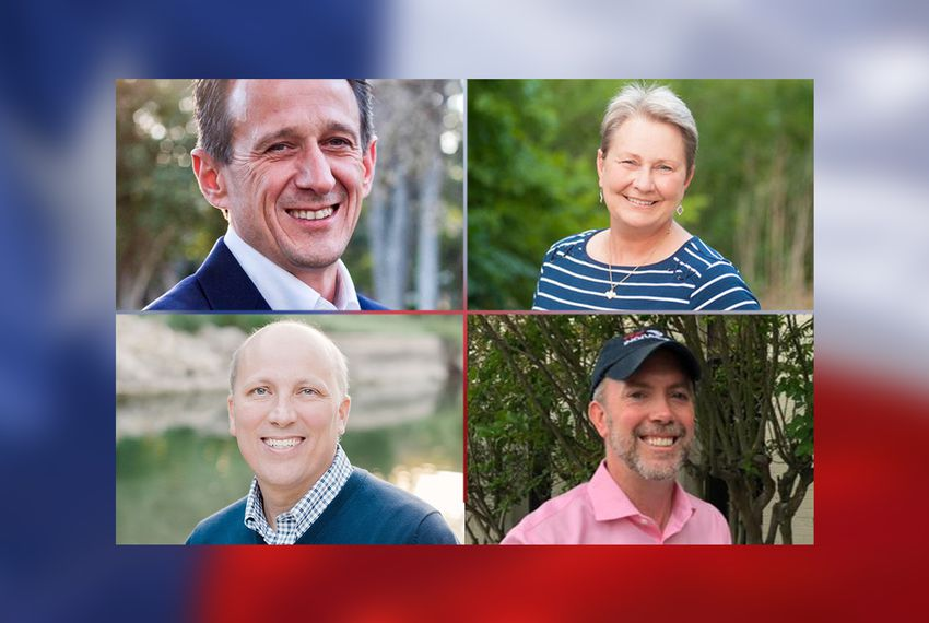 Clockwise from top left: Matt McCall, Mary Wilson, Joseph Kopser and Chip Roy, candidates in the Congressional District 21 runoff.