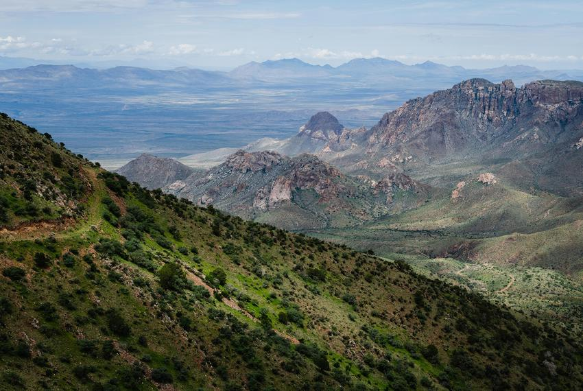 A trail frequented through the harsh terrain by people attempting to avoid detection by the United States Border Patrol. An …