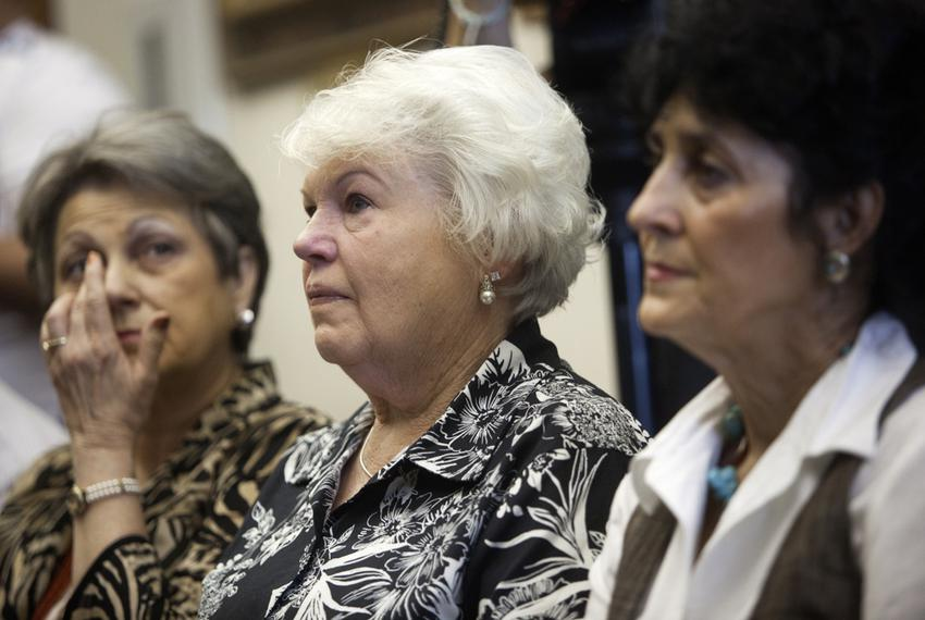 From Left, Patricia Willingham Cox, Cameron Todd Willingham's cousin, Eugenia Willingham, his stepmother, and Judy Cavnar, h…