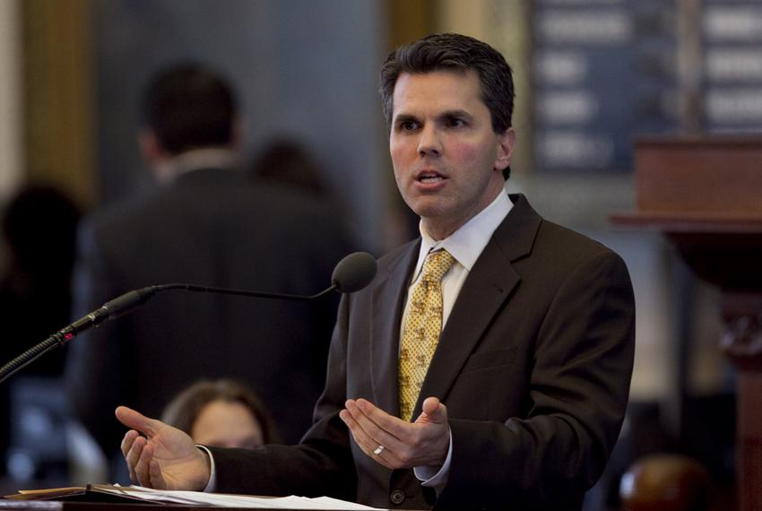 Rep. Mark Strama D-Austin, speaks during HB5 debate on March 26th, 2013. There are currently 165 amendments to the bill and …