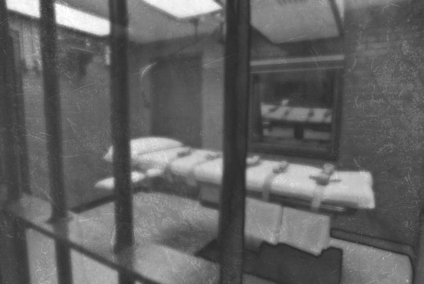 Interior of execution chamber.