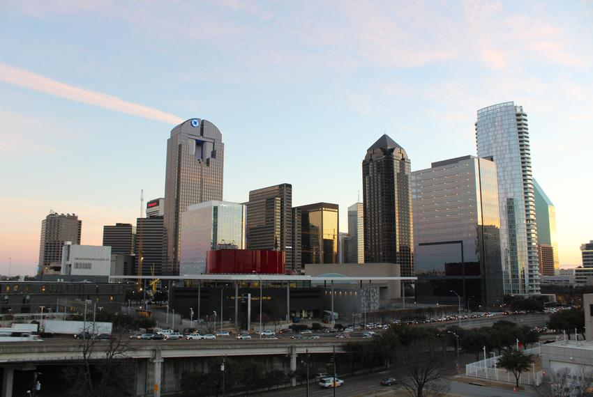 Downtown Dallas in January 2018.