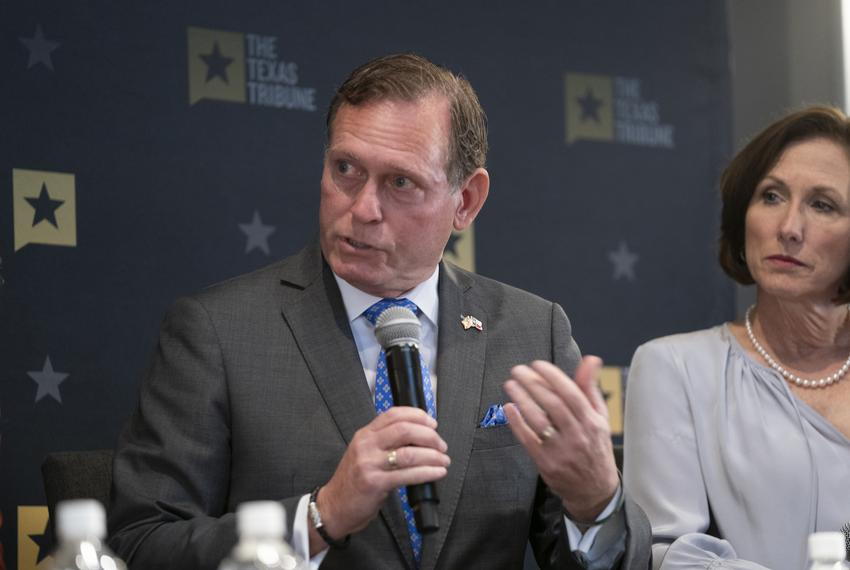 State Rep. John Zerwas, R-Richmond, and State Sen. Lois Kolkhorst, R-Brenham, discuss the budget at a Texas Tribune event on…