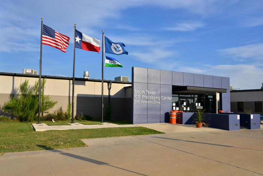 The South Texas ICE Processing Center in Pearsall, Texas.