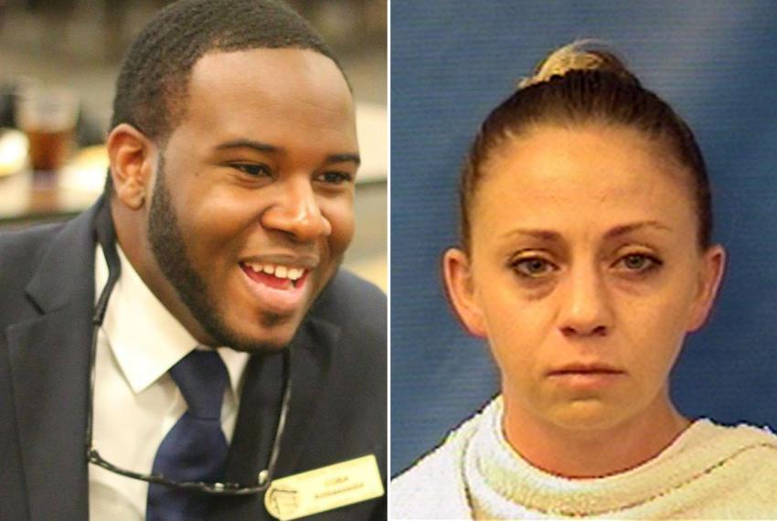 Botham Shem Jean, left, was shot and killed in his apartment by Dallas police officer Amber Guyger, right.
