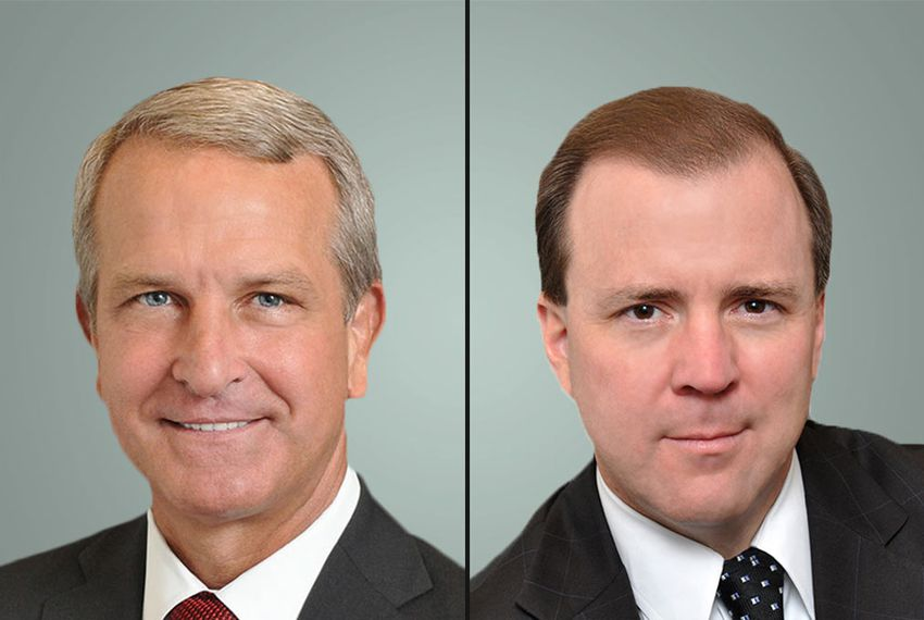 Kyle Janek, left, head of the state Health and Human Services Commission, will step down July 1. He will be replaced by Chris Traylor, right.