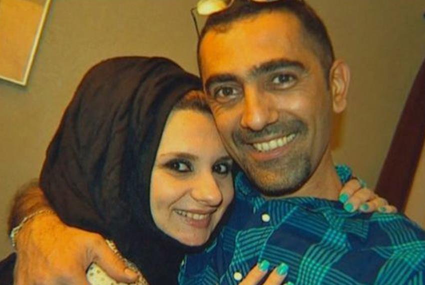 Ahmed Al-Jumaili, pictured here with his wife, was shot by an unknown assailant in a North Dallas neighborhood on March 4, 2…