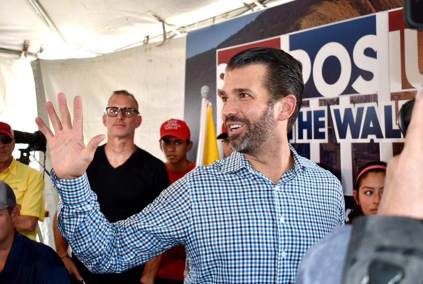 Donald Trump Jr. at the We Build the Wall Symposium n Sunland Park, New Mexico on Friday July 26, 2019.