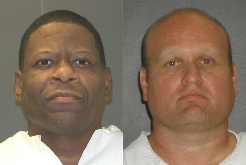Death row inmate Rodney Reed (l.), scheduled to be executed on March 5, 2015, and Jimmy Lewis Fennell. Fennell is the former fiance of Stacey Stites, who Reed was convicted of murdering. Fennell was later convicted of rape and kidnapping of a 20-year-old Williamson Co. woman.