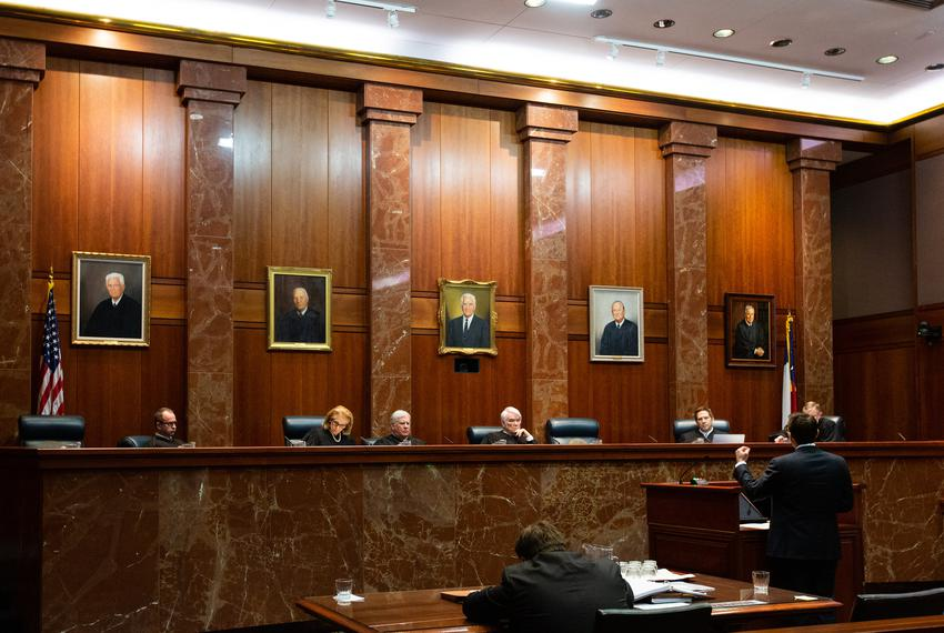 The Justices of the Texas Supreme Court hear the Texas Department of Criminal Justice v. Maurie Levin, et al. case on Jan....
