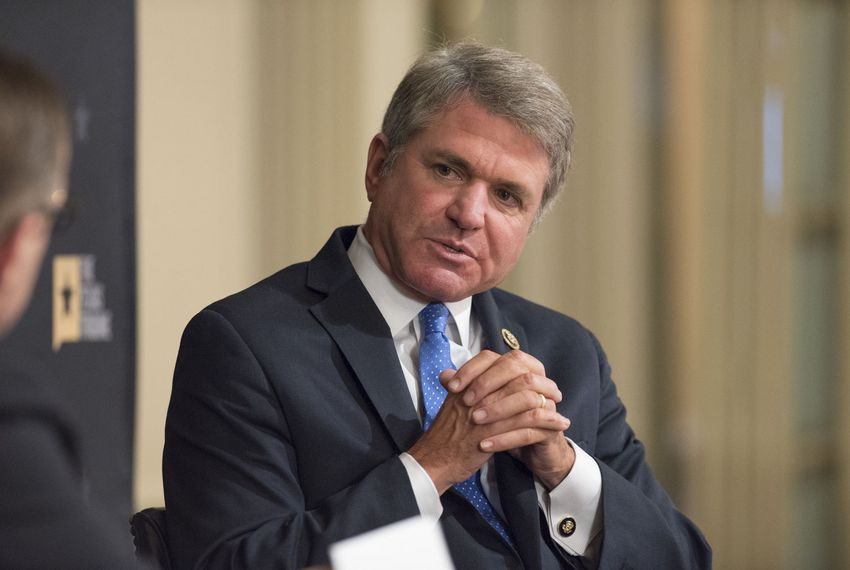 U.S. Rep. Michael McCaul at TTEvents discusses presidential candidate Donald Trump on Oct. 25, 2016.