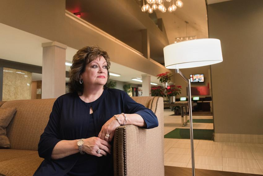 JoAnn Fleming, executive director of Grassroots America, sits for a portrait in the lobby of the Holiday Inn Conference Ce...