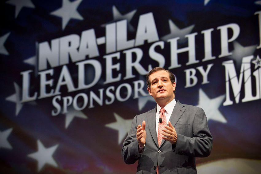 U.S. Senator Ted Crus of Texas speaks during the NRA's national convention in Houston, Friday May 3, 2013.