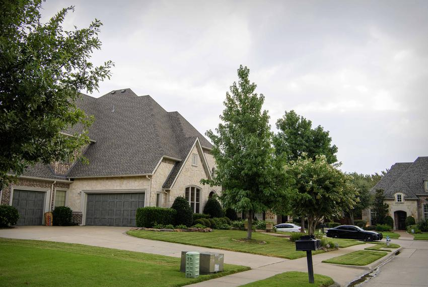 The Allen home of alleged mass shooter Patrick Crusius after members of the Allen police department and the FBI gathered e...