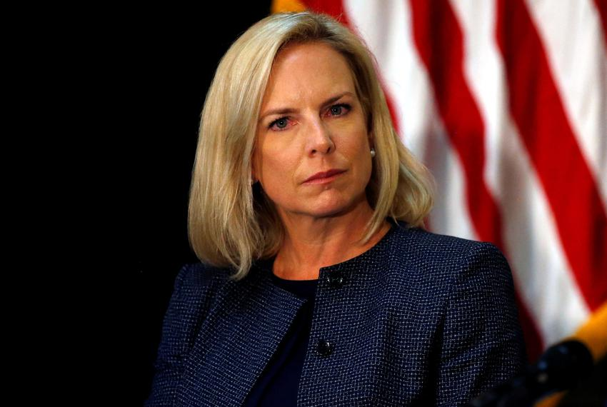 U.S. Homeland Security Secretary Kirstjen Nielsen takes part in a Federal Commission on School Safety meeting at the White H…