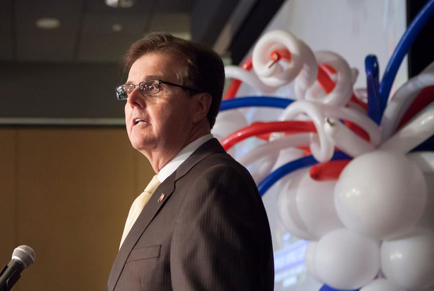 State Senator Dan Patrick at runoff election party in Houston, Tuesday May 27, 2014