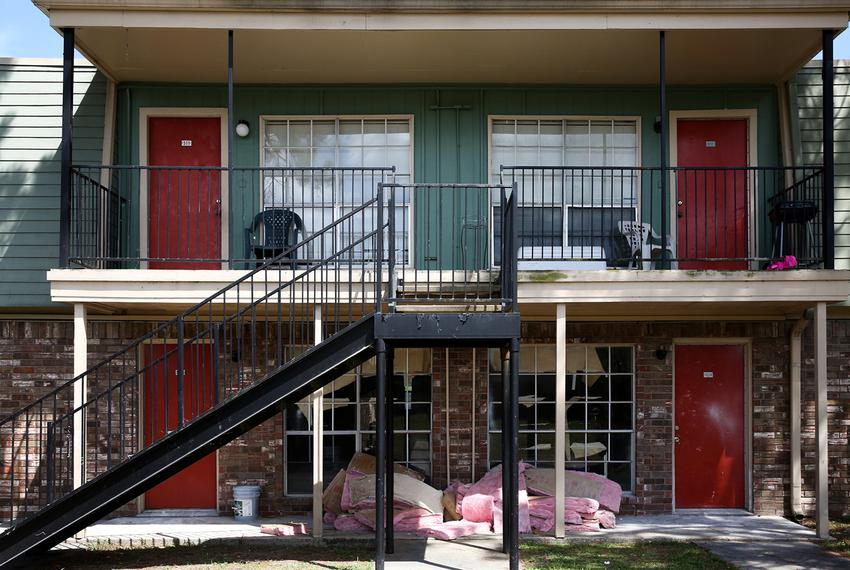 Repairs continue to be made at the Arthur Square Apartment Complex after Harvey rains flooded the first story units in Port …