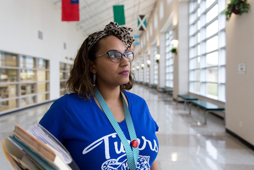 Tiffany Robinson, science curriculum specialist, at Elsik High School in Houston on March 28, 2018. With 12 instructional da…