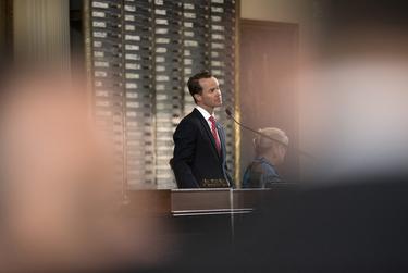 House Speaker Dade Phelan on the House floor on Sine Die on May 31, 2021.