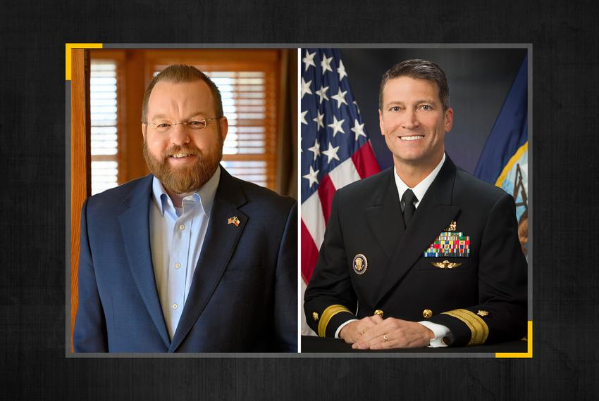 From left, Josh Winegarner and former White House physician Ronny Jackson.