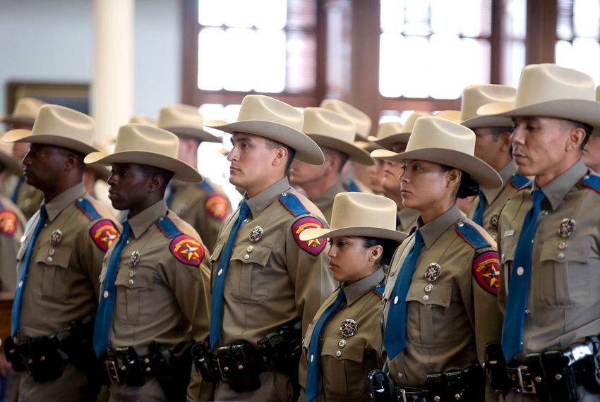 New state troopers with The Texas Department of Public Safety