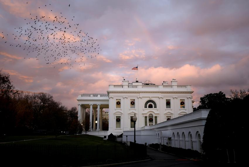 The White House in Washington D.C., on November 30, 2020.