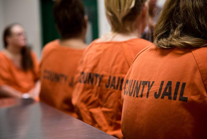 Inmates at the Harris County Jail.