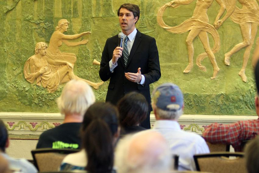 U.S. Rep. Beto O'Rourke, D-El Paso, spoke Tuesday, Sept. 3, during an El Paso town hall forum on whether the U.S. should t...