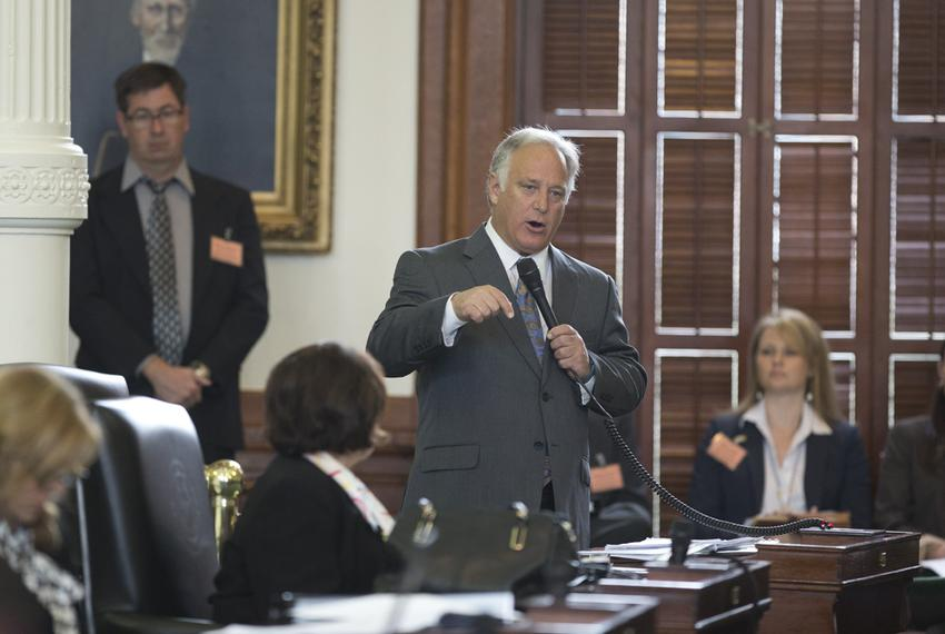 """Sen. Kirk Watson, D-Austin, debates changes that would affect the so-called """"two-thirds rule"""" in the Texas Senate on Jan. 21…"""