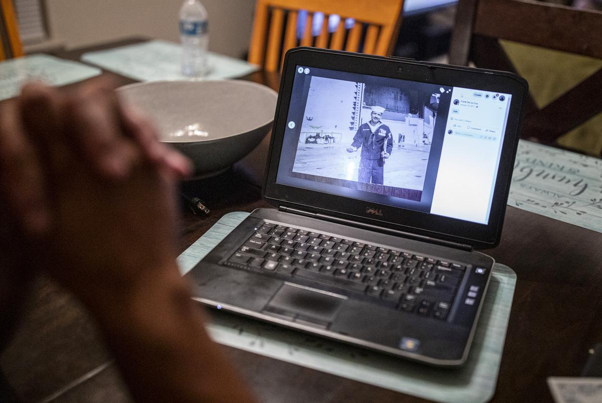 Military veteran Frank De La Cruz at his home Sept. 17, 2020, in El Paso. De La Cruz was deported to Mexico after being arrested more than a decade ago.