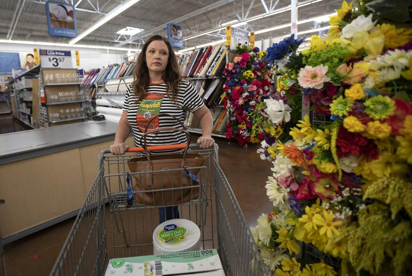 Rena Clegg, an art teacher at Pflugerville ISD, shops for classroom supplies on May 14, 2019. Some teachers like Rena spend …