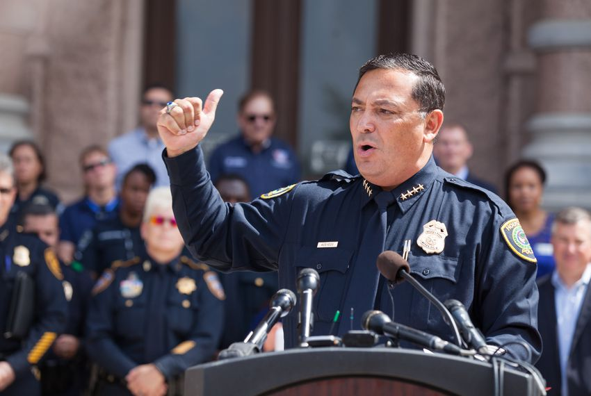 Houston police Chief Art Acevedo has called out U.S. Sens. John Cornyn and Ted Cruz of Texas for their part in blocking legislation that would ban sales of guns to dating partners convicted of domestic abuse or subject to restraining orders for abuse.