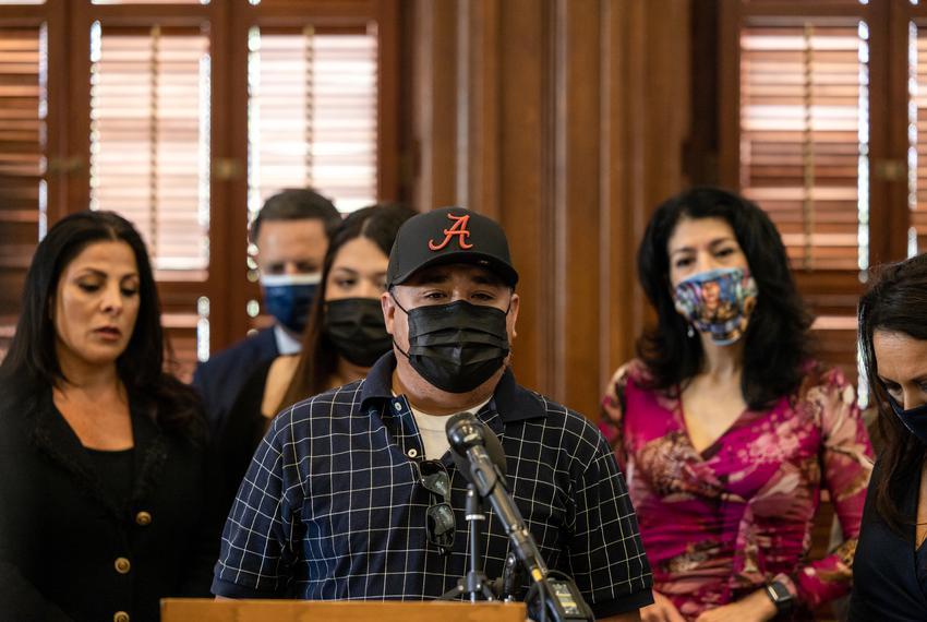 Rogelio Guillen, Vanessa Guillen's father, speaks at a press conference regarding legislation that would designate Sept. 30,…
