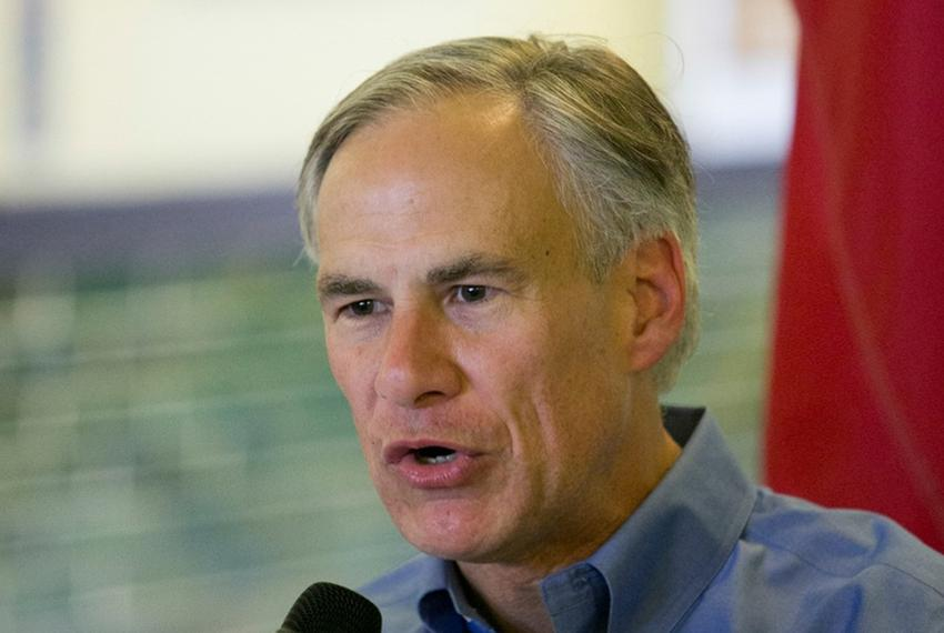 Texas attorney general and candidate for governor of Texas Greg Abbott during a campaign stop in San Marcos, Texas on Octobe…