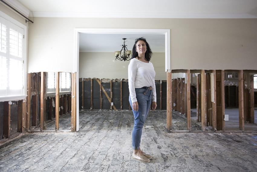 Maria Keene in her home in Houston on Thursday, October 26, 2017. The home where Keene lived for 18 years was damaged by H...