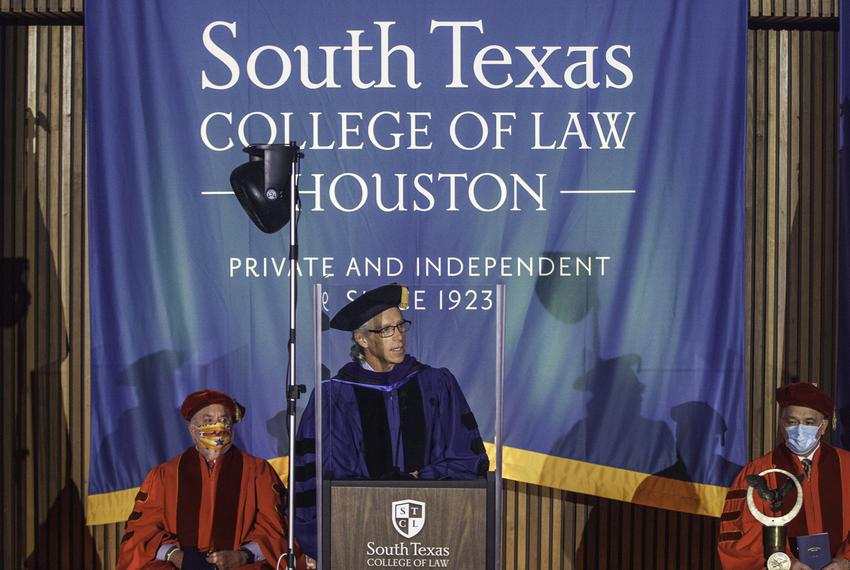 South Texas College of Law-Houston held it's 2019-20 hooding commencement ceremony in Houston on Oct. 17, 2020.