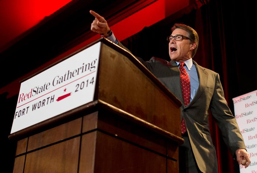 Texas Governor Rick Perry speaks during the 2014 RedState Gathering at the Worthington Renaissance Hotel in Fort Worth, Texa…