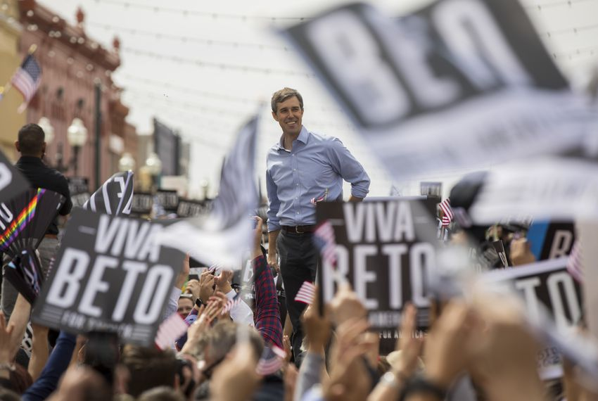 Beto O'Rourke had his first official 2020 presidential campaign rally on March 30 in El Paso.