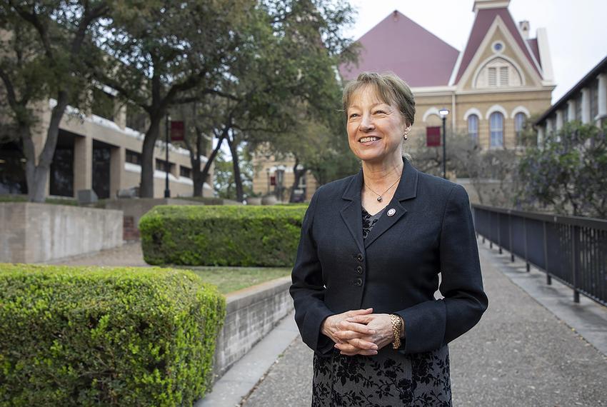 Texas State University President Denise Trauth.