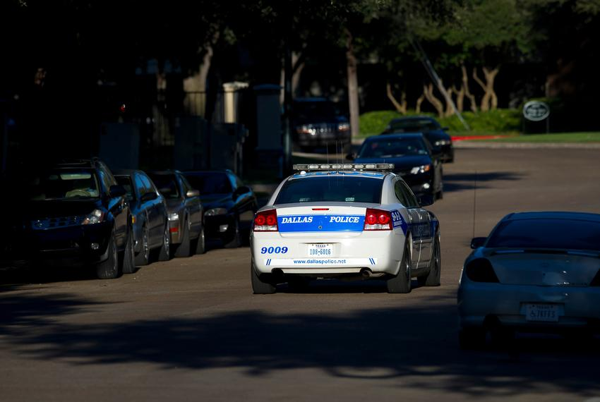 A Dallas police car on patrol.