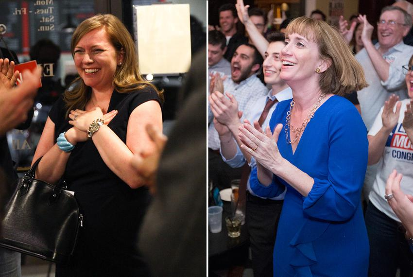 Lizzie Fletcher (left) and Laura Moser are in the Democratic runoff for the Houston-area U.S. Congressional District 7. Th...