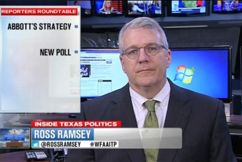 "Texas Tribune Executive Editor Ross Ramsey on WFAA-TV's ""Inside Texas Politics"" on Sept. 21, 2014."