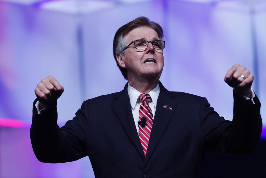 Lt. Gov. Dan Patrick speaks at the Republican Party of Texas convention in San Antonio on Friday, June 15, 2018.